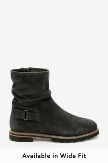 Black Regular/Wide Fit Forever Comfort® Leather Weekend Ankle Boots