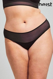 Heist Black Sheer Brazilian Briefs