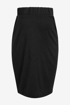 Black Maternity Jersey Skirt