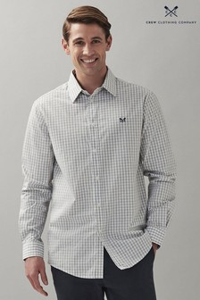 Crew Clothing Company Grey Heather Gingham Classic Fit Shirt