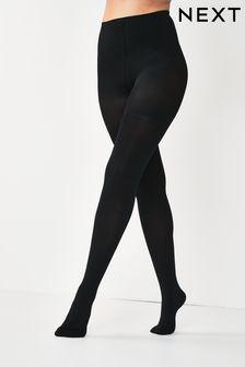 Black 100 Denier Bum, Tum And Thigh Shaping Tights