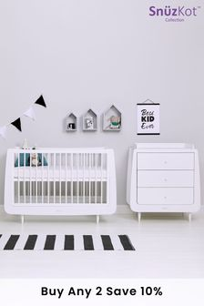 White Snüzkot Skandi 2 Piece Nursery Furniture Set