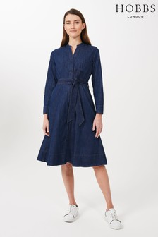 Hobbs Blue Taylor Denim Dress