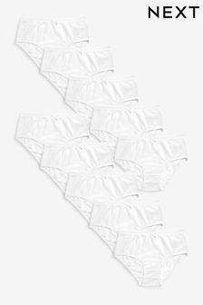 White 10 Pack Briefs (1.5-16yrs)