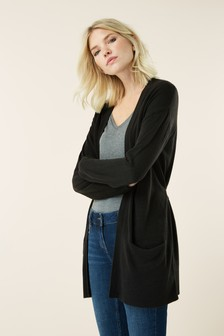 Black  Cosy Belted Cardigan
