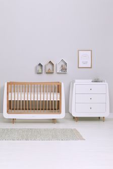 Natural Snüzkot Skandi 2 Piece Nursery Furniture Set