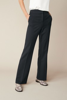 Black Shapewear Boot Cut Trousers
