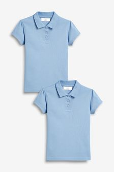 Blue 2 Pack Poloshirts (3-16yrs)