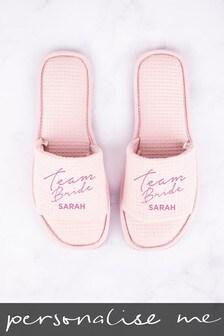 Personalised Team Bride Slippers
