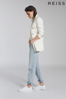 Reiss Blue Brooke Straight Slim Leg Jeans