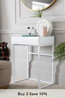 White Sloane Compact Dressing Table