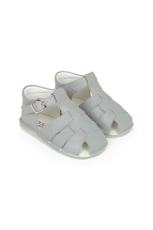 Andanines Baby Boys Grey Leather Sandals