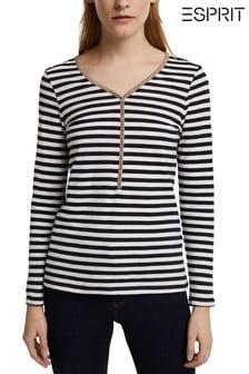Esprit Women Stripe Long Sleeve T-Shirt