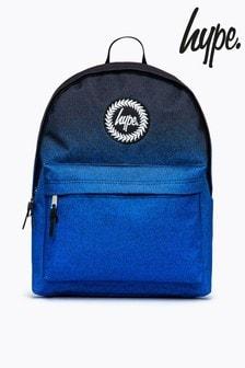 Hype. Black Blue Speckle Fade Backpack