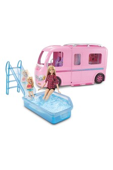 Barbie Camper Which Transforms Into Playset With Pool