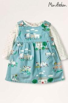 Boden Multi Woven Pinnie Dress Set