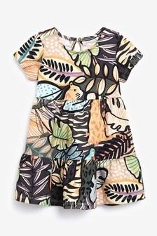 Charcoal Jungle Jersey Dress (3mths-7yrs)