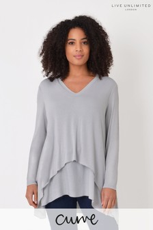 Live Unlimited Curve Grey Marl Double Layer Top