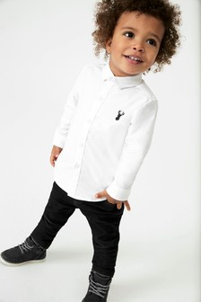 White Long Sleeve Oxford Shirt (3mths-7yrs)