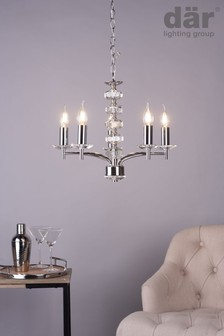 Dar Lighting Silver Oleana 5 Light Armed Fitting