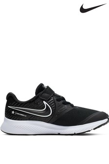 Nike Run Black/White Star Runner Junior Trainers