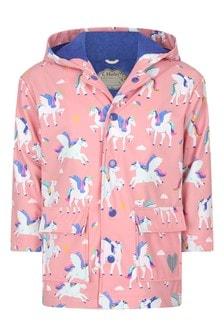 Hatley Kids & Baby Girls Pink Magical Pegasus Colour Changing Raincoat