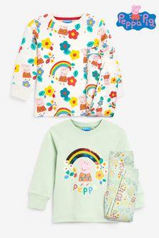 Multi 2 Pack Peppa Pig Snuggle Fit Pyjamas (9mths-6yrs)