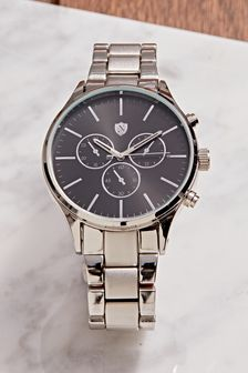Silver Tone Strap Watch