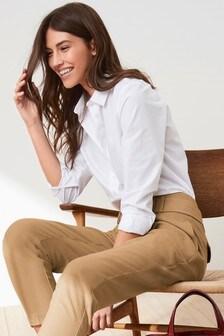 White  Cotton Rich Shirt