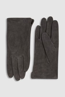Charcoal Suede Gloves