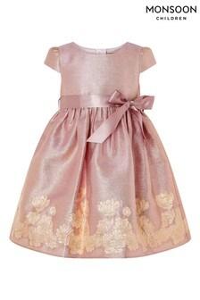 Monsoon  Baby Bordered Jacquard Dress