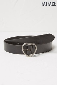 FatFace Black Heart Buckle Leather Belt