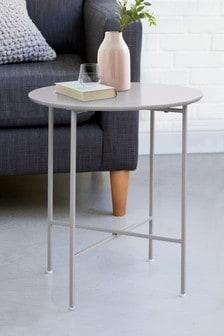 Grey Colour Block Side Table / Bedside