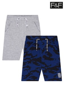 F&F 2 Pack Camo Sweat Shorts