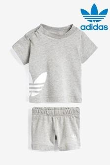 adidas Originals Infant Grey T-Shirt And Short Set