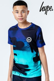 Hype. Blue Fade Spray T-Shirt