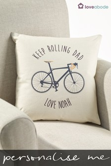 Personalised Keep Rolling Cushion by Loveabode