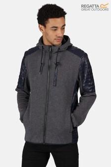 Regatta Blue Wilkin Full Zip Hooded Fleece Sweater