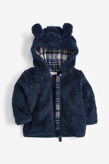 Blue Cosy Fleece Bear Jacket (0mths-2yrs)