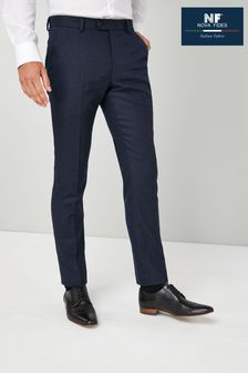 Navy Trousers Flannel Slim Fit Suit
