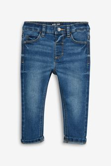 Mid Blue Slim Fit Jeans With Stretch (3mths-7yrs)