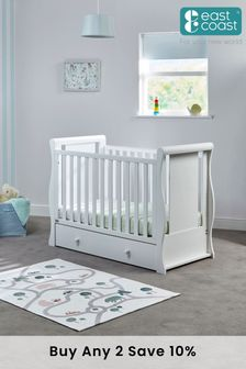 Nebraska Cot2Bed White By East Coast