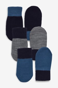 Blue Mittens Three Pack (Younger)