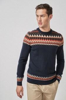 Fair Isle Christmas Sweater.Men S Jumpers Christmas Sweater Christmassweater Next Ireland