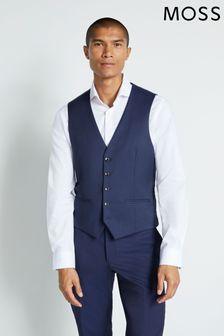 Moss London Skinny Fit Ink Waistcoat