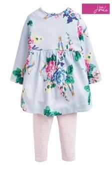 Joules Christina Printed Dress And Leggings Set
