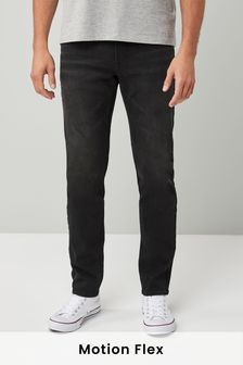 Black Slim Fit Motion Flex Stretch Jeans
