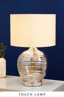Mink Drizzle Touch Small Table Lamp