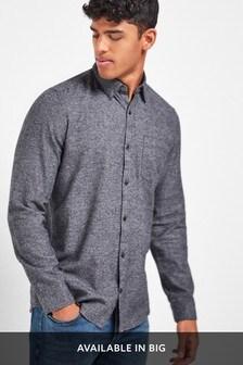 Grey Puppytooth Long Sleeve Shirt