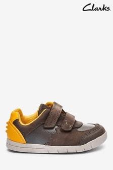 Clarks Brown Leather Rex Quest T Shoes